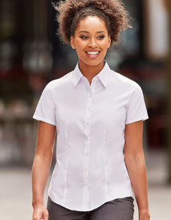 Ladies Short Sleeve Ultimate Stretch Shirt Russel