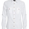 Ladies Traditional Shirt Plain James & Nicholson - white