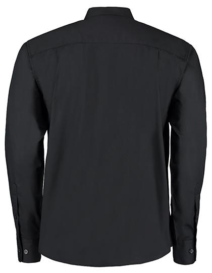 Mens Bar Shirt Mandarin Collar Long Sleeve Bargear - Rückseite