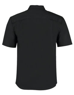 Mens Bar Shirt Mandarin Collar Short Sleeve Bargear - Rückseite