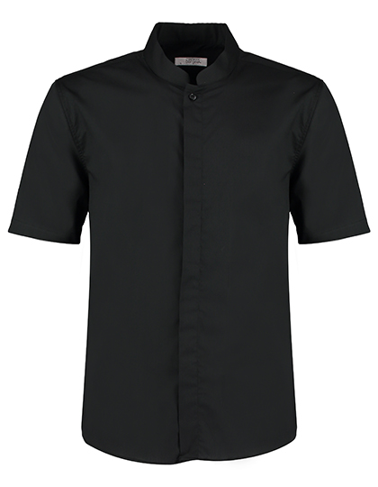 Mens Bar Shirt Mandarin Collar Short Sleeve Bargear