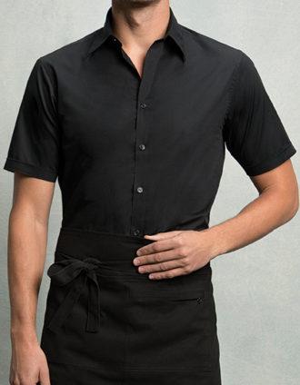 Mens Bar Shirt Short Sleeve Bargear - black