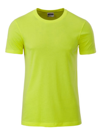 Mens Basic T James & Nicholson - acid yellow