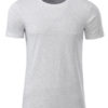 Mens Basic T James & Nicholson - ash