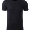 Mens Basic T James & Nicholson - black