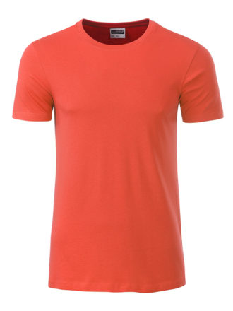 Mens Basic T James & Nicholson - coral