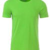 Mens Basic T James & Nicholson - lime green