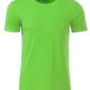 Mens Basic T James & Nicholson - lime green