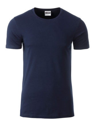 Mens Basic T James & Nicholson - navy
