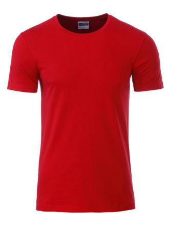 Mens Basic T James & Nicholson - red