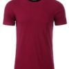 Mens Basic T James & Nicholson - wine