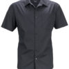 Mens Business Shirt Short Sleeved James & Nicholson - black