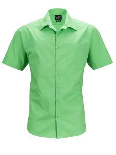 Mens Business Shirt Short Sleeved James & Nicholson - lime green