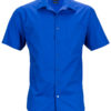 Mens Business Shirt Short Sleeved James & Nicholson - royal