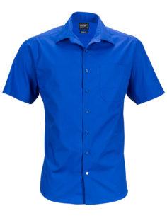 Mens Business Shirt Short Sleeved James & Nicholson - royal