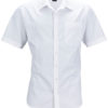 Mens Business Shirt Short Sleeved James & Nicholson - white