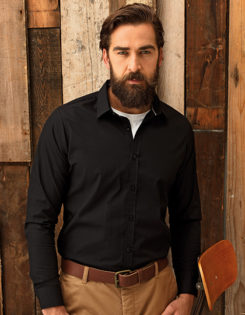 Mens Long Sleeve Fitted Friday Bar Shirt Premier