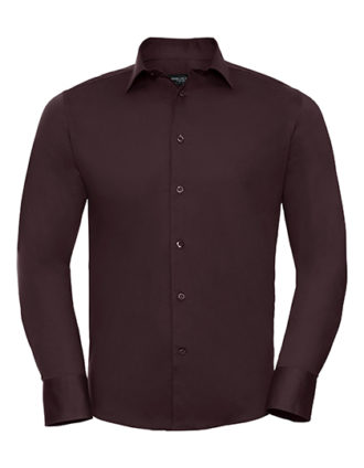 Mens Long Sleeve Fitted Shirt Russel Z946