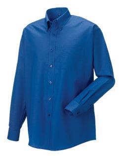 Mens Long Sleeve Oxford Shirt Russel - aztec blue