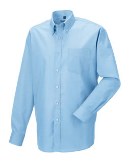 Mens Long Sleeve Oxford Shirt Russel - oxford blue