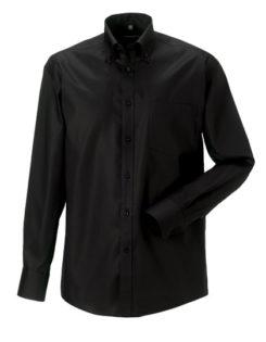 Mens Long Sleeve Ultimate Non-Iron Shirt - black