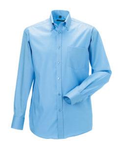 Mens Long Sleeve Ultimate Non-Iron Shirt - bright sky