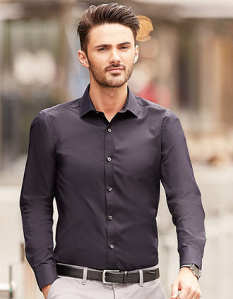 Mens Long Sleeve Ultimate Stretch Shirt Russel
