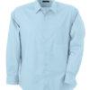 Mens Shirt Classic Fit Long James & Nicholson - light blue