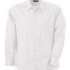 Mens Shirt Classic Fit Long James & Nicholson - white