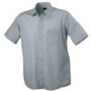 Mens Shirt Classic Fit Short James & Nicholson - grey