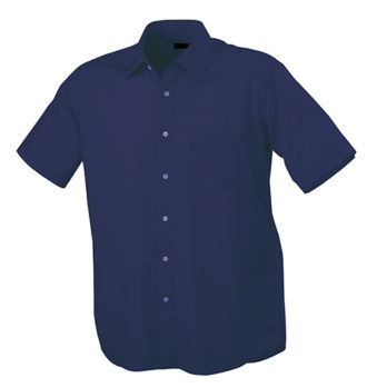Mens Shirt Classic Fit Short James & Nicholson - navy