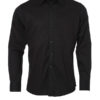 Mens Shirt Longsleeve Oxford James & Nicholson - black