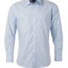 Mens Shirt Longsleeve Poplin James & Nicholson - light blue