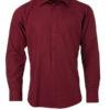 Mens Shirt Longsleeve Poplin James & Nicholson - wine