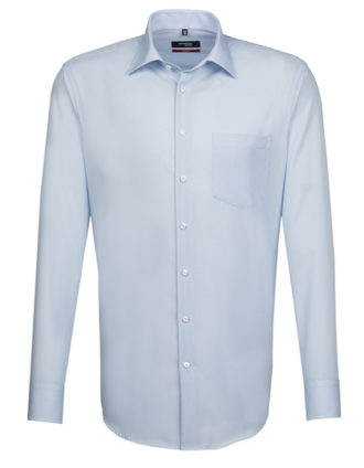 Mens Shirt Modern Fit Longsleeve Seidensticker