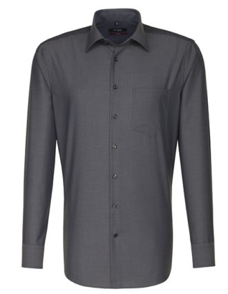 Mens Shirt Modern Fit Longsleeve Seidensticker - anthracite
