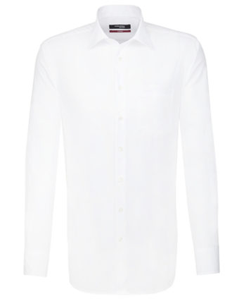 Mens Shirt Modern Fit Longsleeve Seidensticker - white