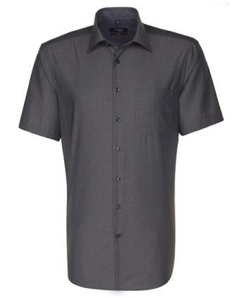 Mens Shirt Modern Fit Shortsleeve Seidensticker - anthracite
