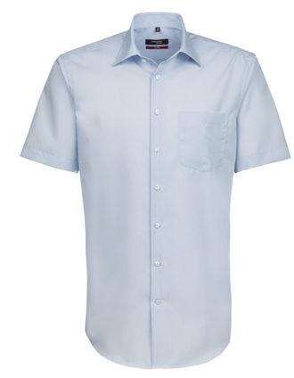 Mens Shirt Modern Fit Shortsleeve Seidensticker - light blue