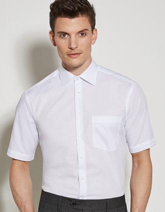 Mens Shirt Modern Fit Shortsleeve Seidensticker - white