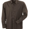 Mens Shirt Slim Fit Long James & Nicholson - brown