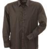 Mens Shirt Slim Fit Long James & Nicholson - brown