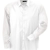 Mens Shirt Slim Fit Long James & Nicholson - white