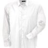 Mens Shirt Slim Fit Long James & Nicholson - white