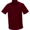Mens Short Sleeve Fitted Shirt Russel - port