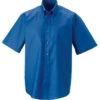 Mens Short Sleeve Oxford Shirt Russel - aztec blue