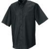 Mens Short Sleeve Oxford Shirt Russel - black