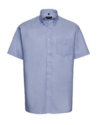 Mens Short Sleeve Oxford Shirt Russel - oxford blue