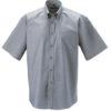 Mens Short Sleeve Oxford Shirt Russel - silver