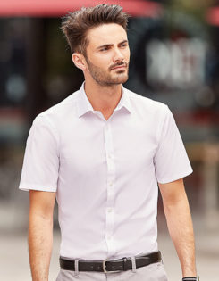 Mens Short Sleeve Ultimate Stretch Shirt Russel